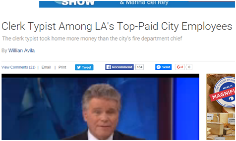 Clerk typist among Los Angeles Top-Paid City Employees Click Here Now To Check If You Qualify!